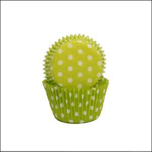 Lime/White Polka Dot Large Patty Pan Pk