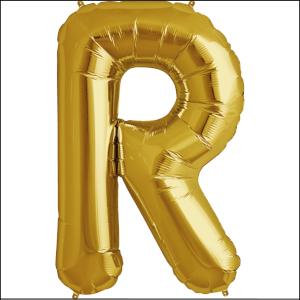 Foil Balloon 35cm Gold R
