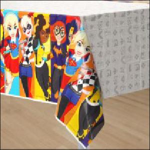 DC Girls Superhero Party Tablecover Pk 1