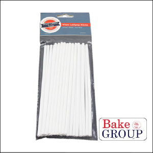 Lollipop Sticks White 150mm Pk 25