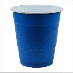 Premium Royal Blue Plastic Cup Pk 20