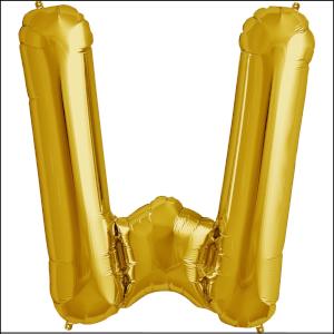 Foil Balloon 35cm Gold W