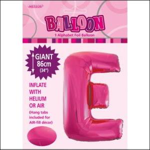 Letter E Pink Supershape 86cm