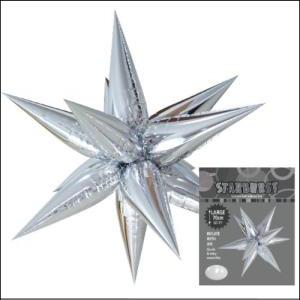 Star Burst Foil Balloon Silver