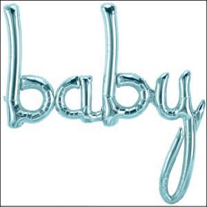 Baby Script Pastel Blue Air Fill