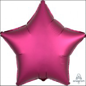 Satin Luxe Hot Pink Star 45cm