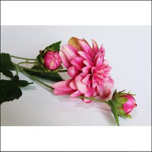 Dahlia Spray w/ Bud Rose Pink 65cm