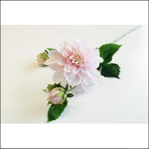 Dahlia Spray w/ Bud Pink 65cm