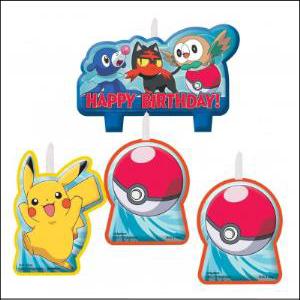 Pokemon Candle Set Pk 4