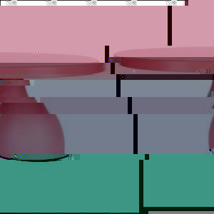 "Cake Stand Round Modern Pink 12"""