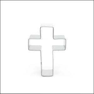"""Mini Cross Cookie Cutter 1.75"""" Silver"""