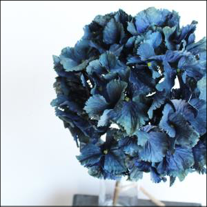 Dried Look Hydrangea Spray Blue 52cm