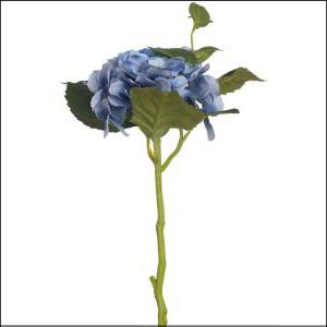 Hydrangea Stem Blue 35cm