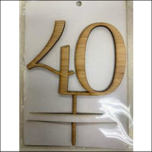 Bamboo Number 40 Topper