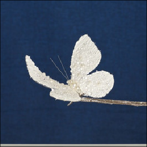 High St Butterfly Wh 16cm