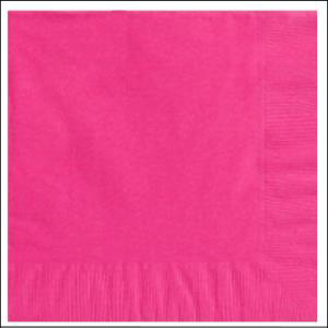Bright Pink Beverage Napkin pk20