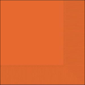 Orange Lunch Napkins pk20