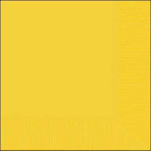 Yellow Beverage Napkin pk20