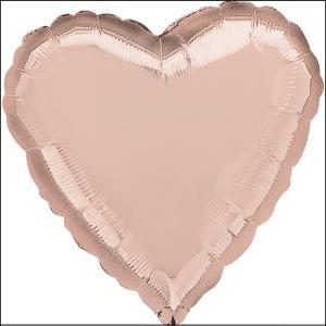 Rose Gold Heart Foil Balloon 45cm