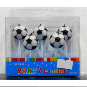 Soccer Ball Pick Candles Pk5