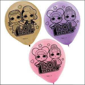 LOL Suprise Latex Balloon 6Pk