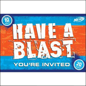 Nerf Invitations 8Pk