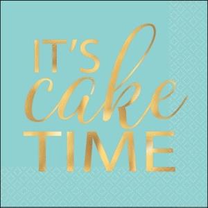 Mint Green Cake Time Bev. Napkins 16Pk