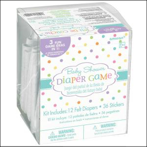 Baby Shower Nappy Game 12Pk