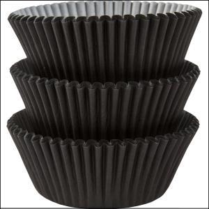 Cupcake Cases Standard Black 75Pk