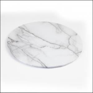 "White Marble Look 14"" Cake Board Mondo"