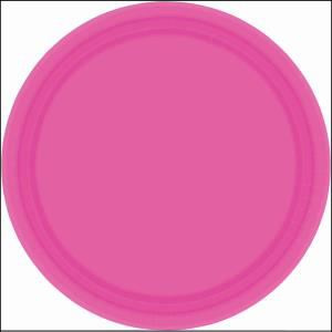 Bright Pink Paper Plate 9in pk20