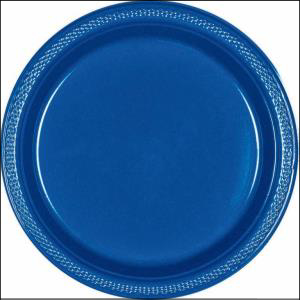 Royal Blue Plastic Plate 17.7cm pk20