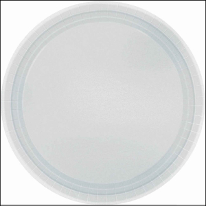 Silver Paper Plates 7in pk20