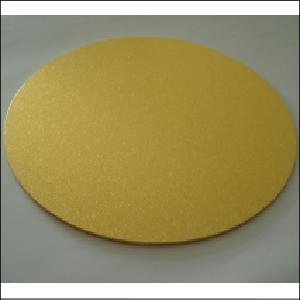 "Loyal Gold 12"" Round MDF Cake Board"