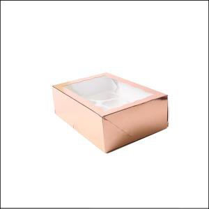 6 Hole Cupcake Box Rose Gold