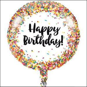 Sprinkles Birthday 45cm Foil Balloon