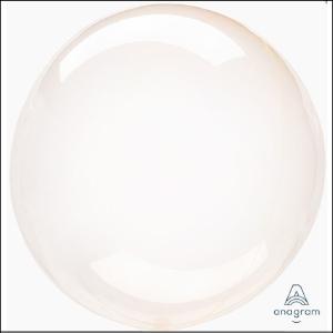 Crystal Clearz Orange Round Balloon
