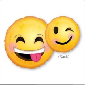 Emoticons Smile Foil Balloon 43cm