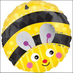Cute Bumble Bee 43cm Foil Balloon