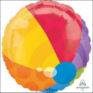 Beach Ball 43cm Foil Balloon