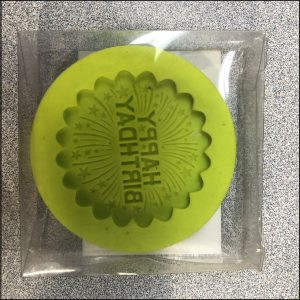 Silicone Mould Happy Birthday 3D