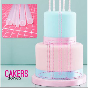 Cake Dowels Opaque Large Pk5