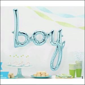 Airfill Phrase Boy Pastel Blue 69cm