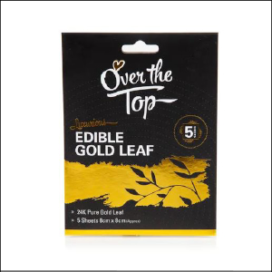 Edible Gold Leaf 5 Sheets Over the Top