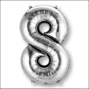 Supershape Foil Silver Number 8