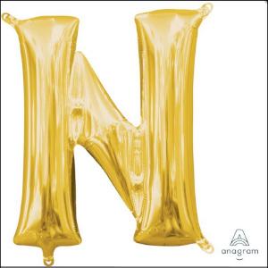Airfill Letter N Gold Foil 40cm