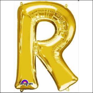 Airfill Letter R Gold Foil 40cm