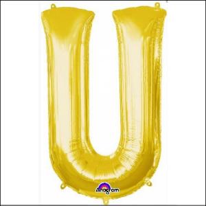 Airfill Letter U Gold Foil 40cm