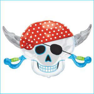 Pirates Party Skull Foil S/S