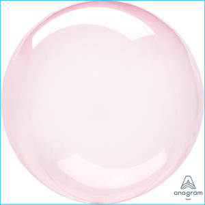 Crystal Clearz Petite Dark Pink Balloon